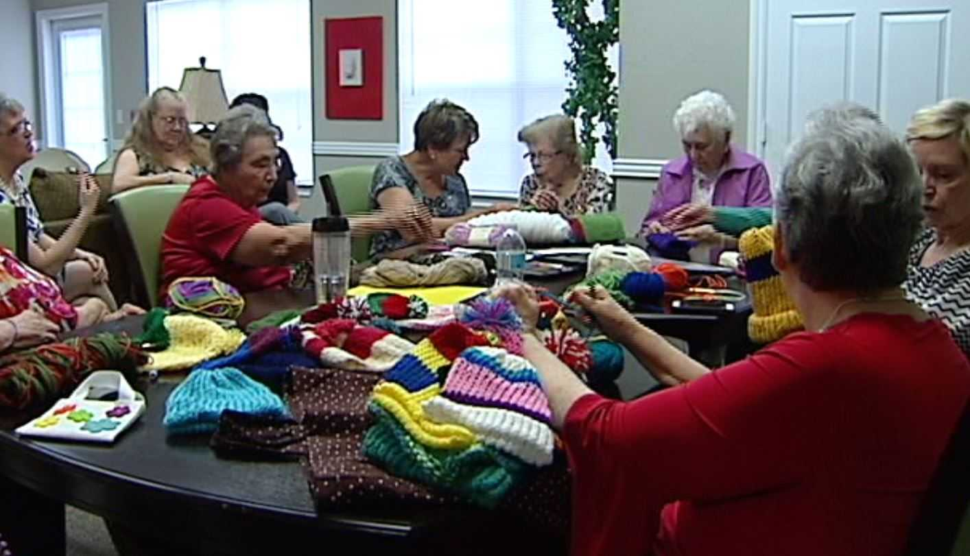 Women honored for knitting caps for little ones who need it most