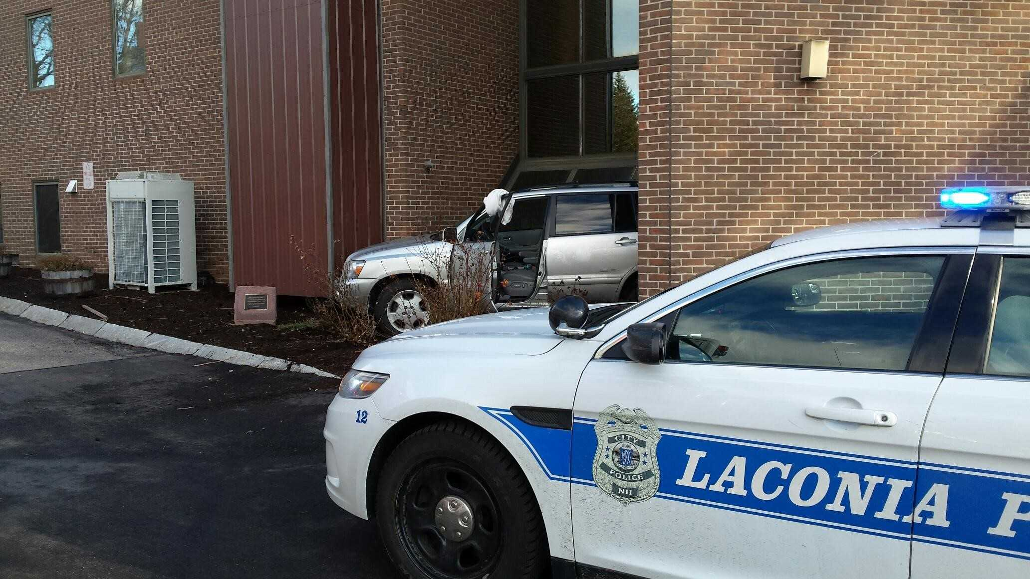 Car crashes into Laconia building