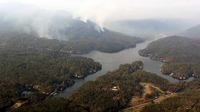 Sky 4 over Lake Lure fire