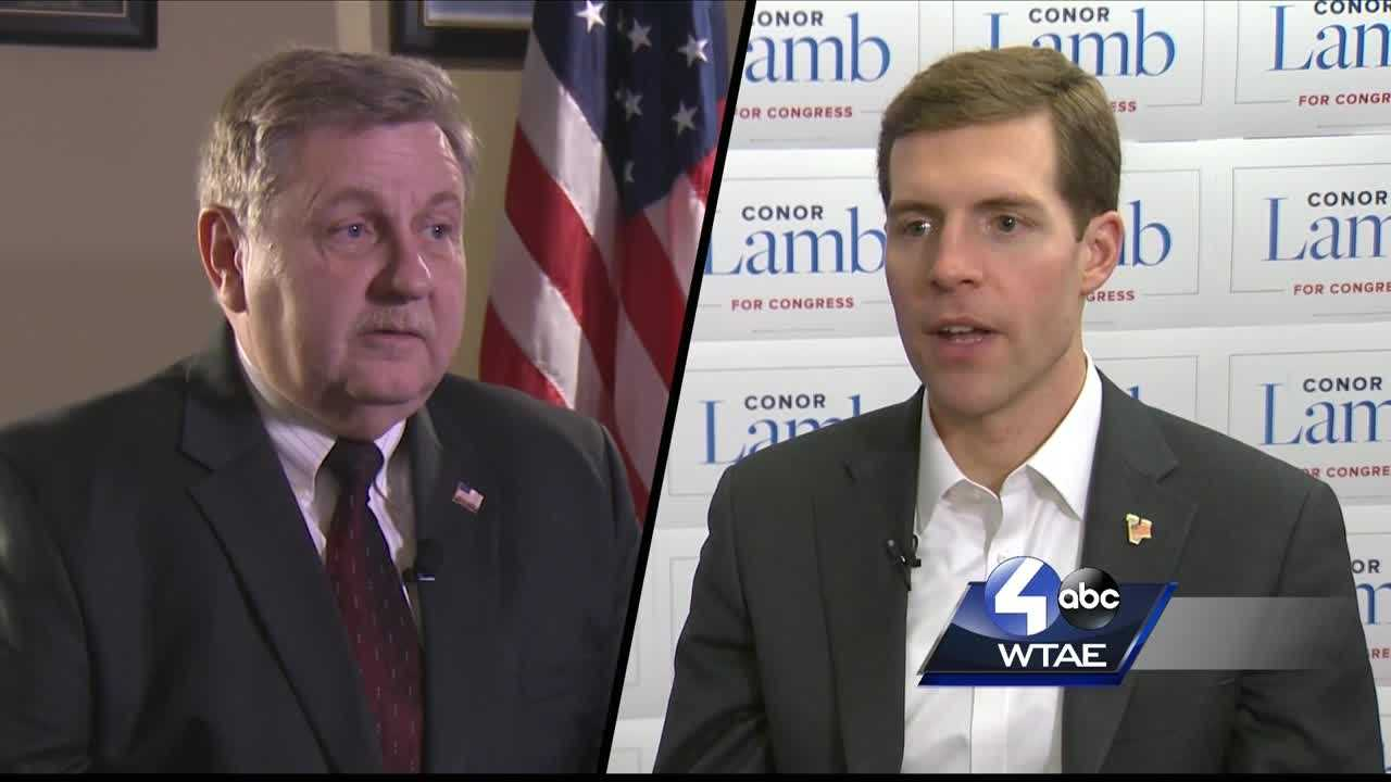 Rick Saccone (left), Conor Lamb (right)