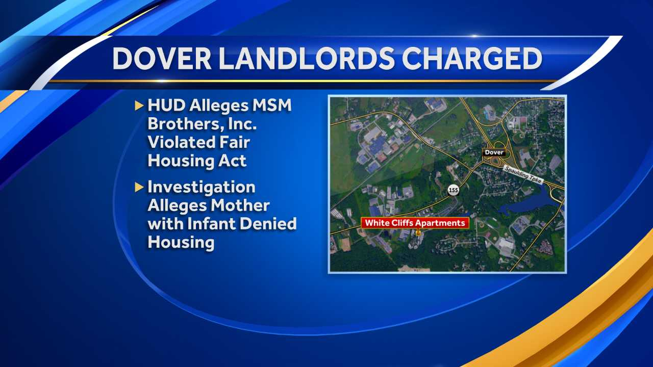 Dover landlords charged with housing discrimination