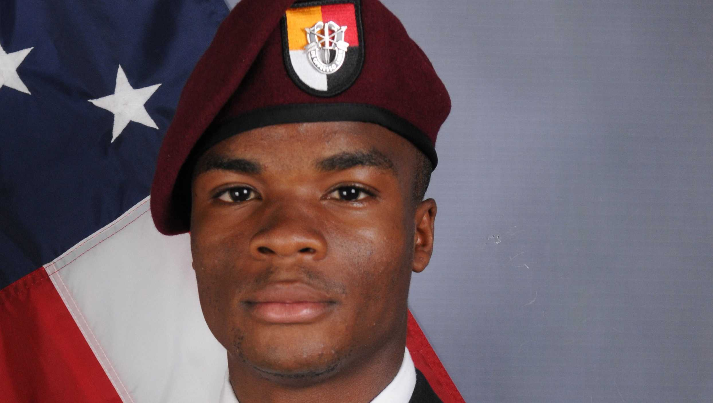 This file photo provided by the U.S. Army Special Operations Command shows Sgt. La David Johnson, who was killed in an Oct. 4 ambush in Niger.