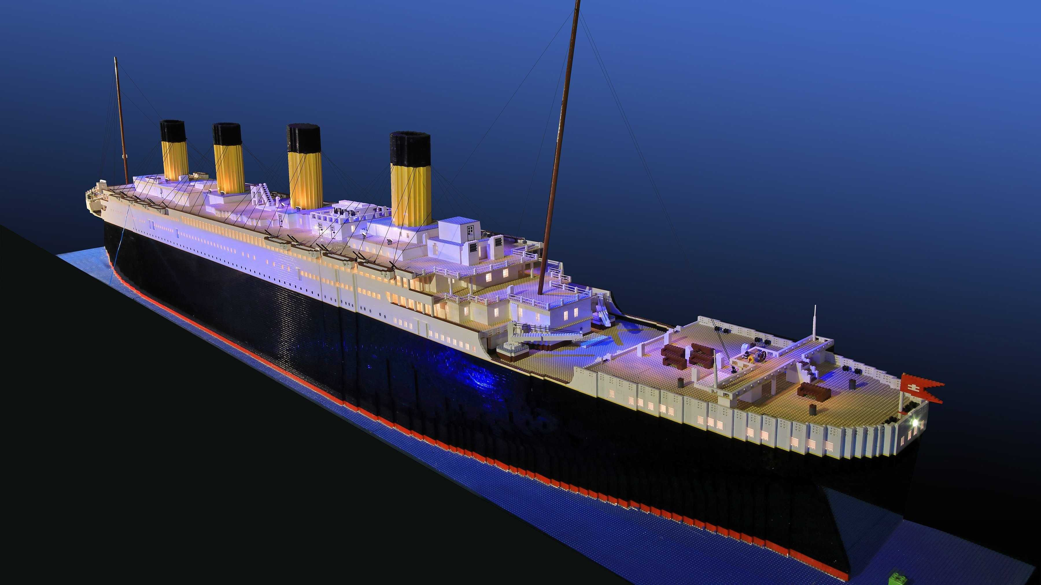 Brynjar Karl Bigisson's Titanic replica is 26 feet long and 5 feet tall.