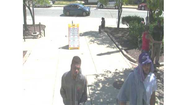 The Maryland Transit Administration police are looking for two people they said robbed someone last year at a Baltimore light rail station.