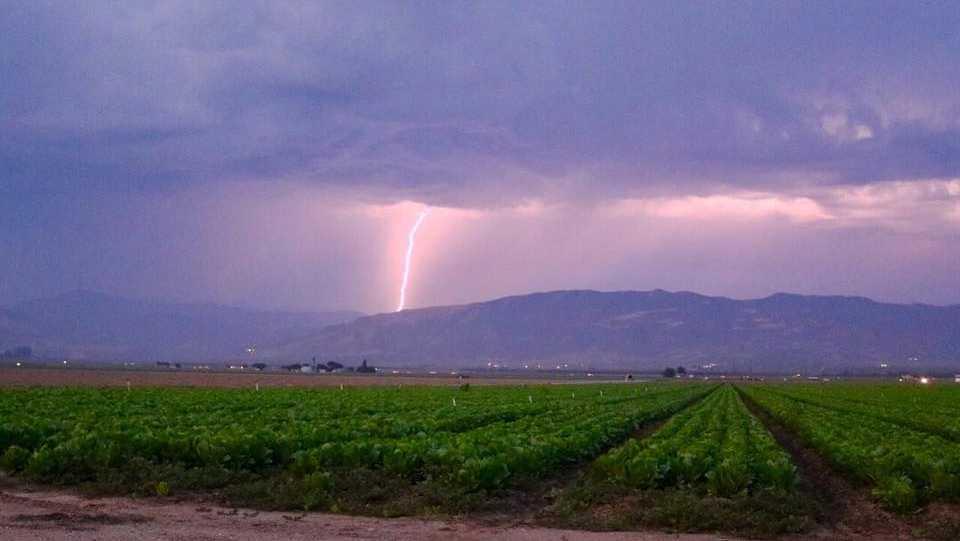 Greenfield lightning Monday