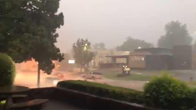tv news reporter captures terrifying lightning strike