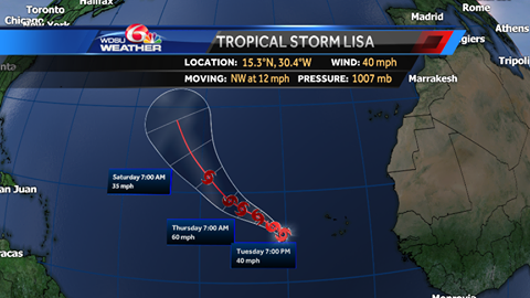 Tropical Storm Lisa