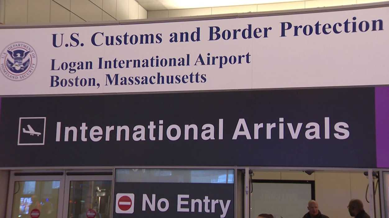 Logan Airport customs
