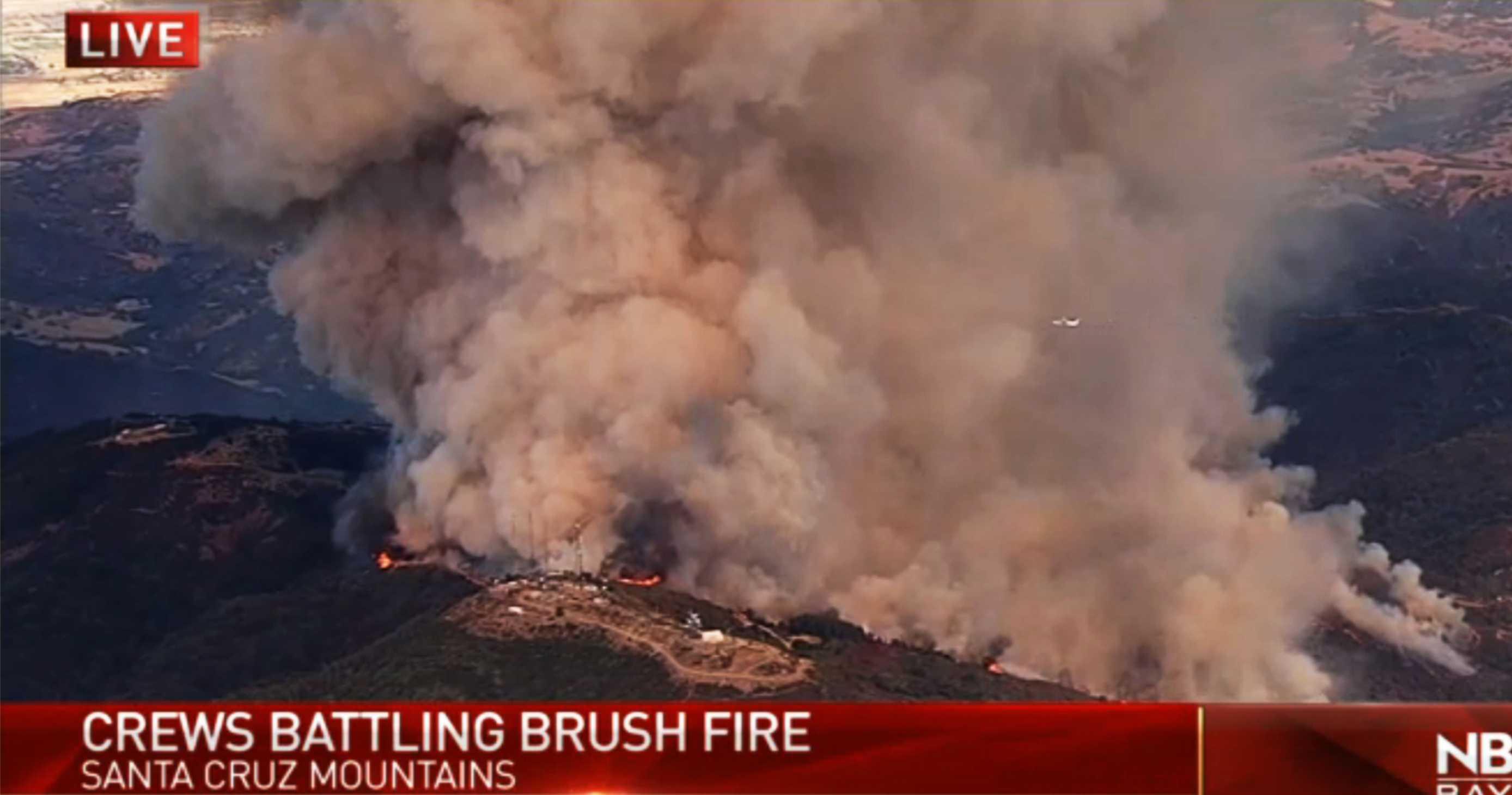 Wildfire in Santa Cruz mountains forces evacuations