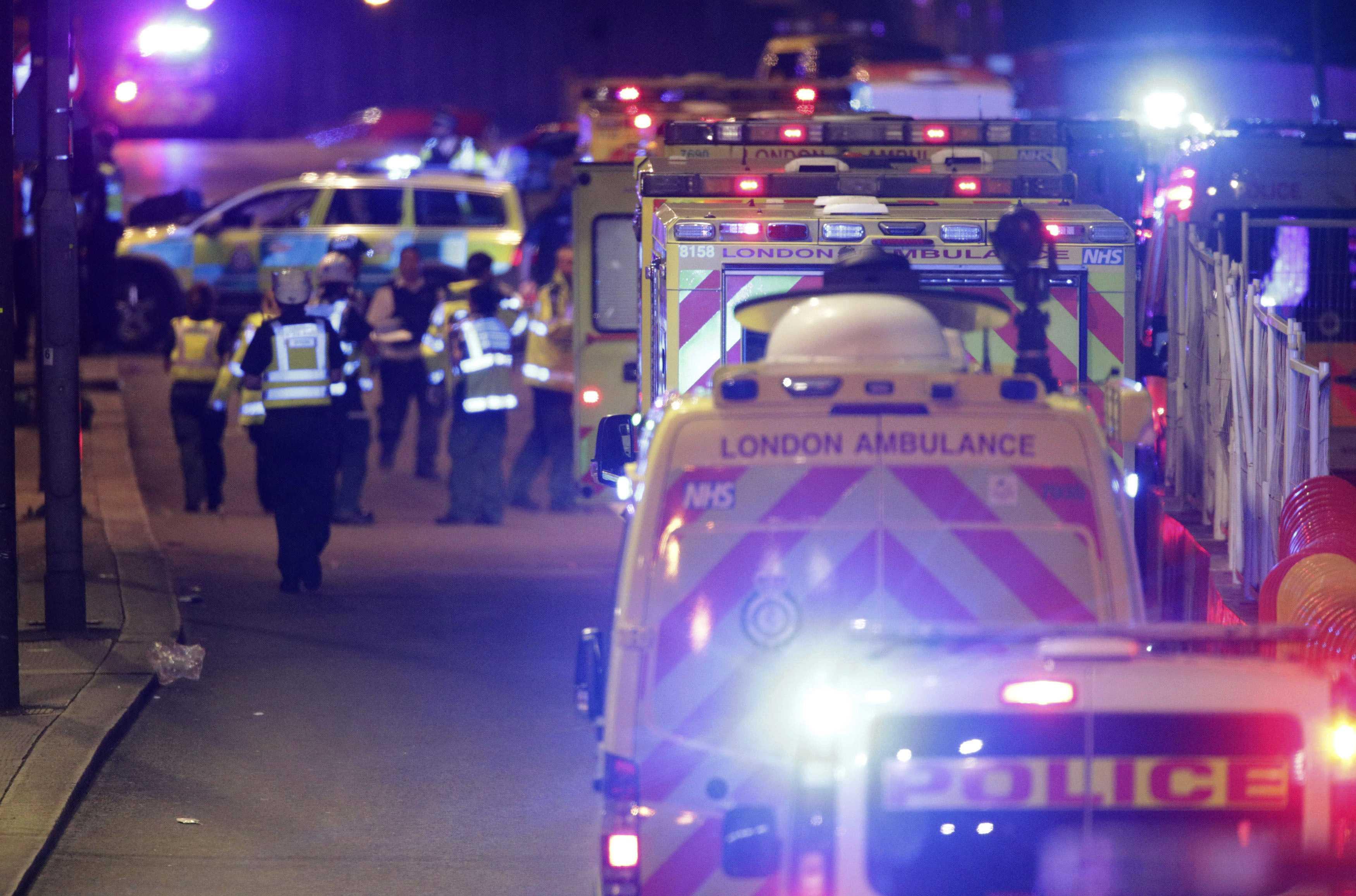 Van drove into pedestrians on London Bridge