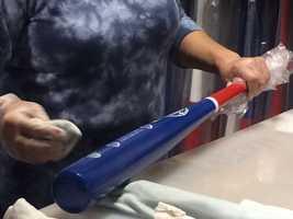 Cubs World Series Champion Bats
