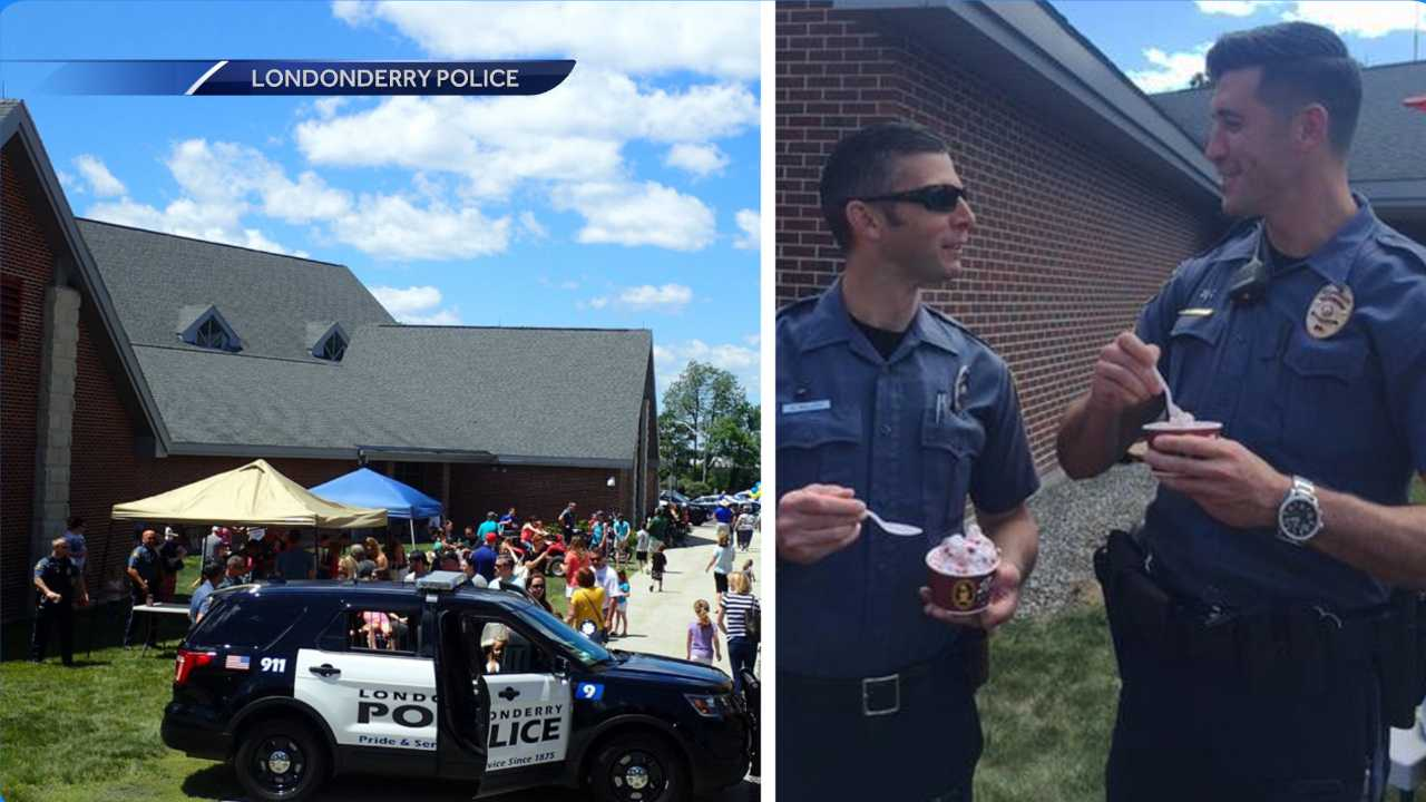 Londonderry police holds ice cream party for Facebook milestone