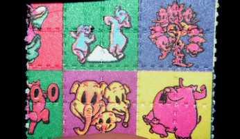 A blotter of LSD.