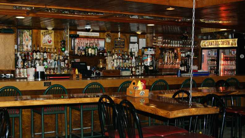 6. (tie) Lucky Dog Tavern and Grill in Plymouth