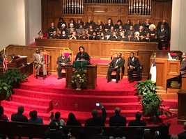 US AG Loretta Lynch speaks in Birmingham