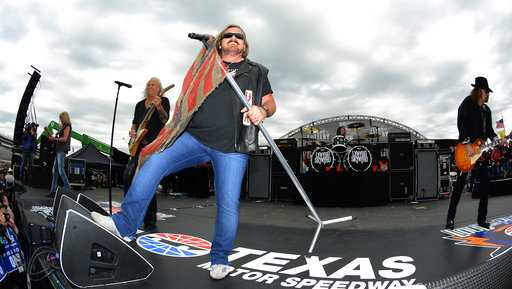 In this April 9, 2016, file photo, Johnny Van Zant fronts the band Lynyrd Skynyrd during a concert before the NASCAR Sprint Cup Series auto race at Texas Motor Speedway in Fort Worth, Texas.