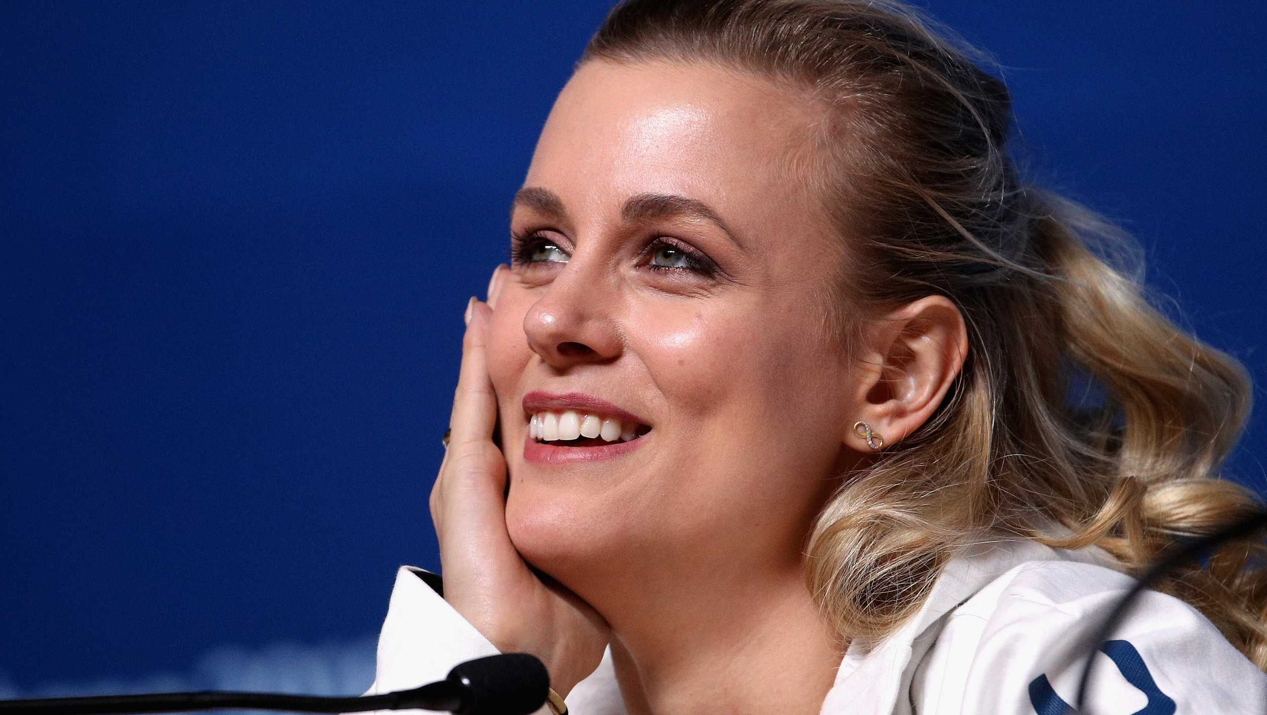 Figure skater Madison Hubbell speaks during a press conference during the Pyeongchang 2018 Winter Olympic Games on February 16, 2018 in Pyeongchang-gun, South Korea.