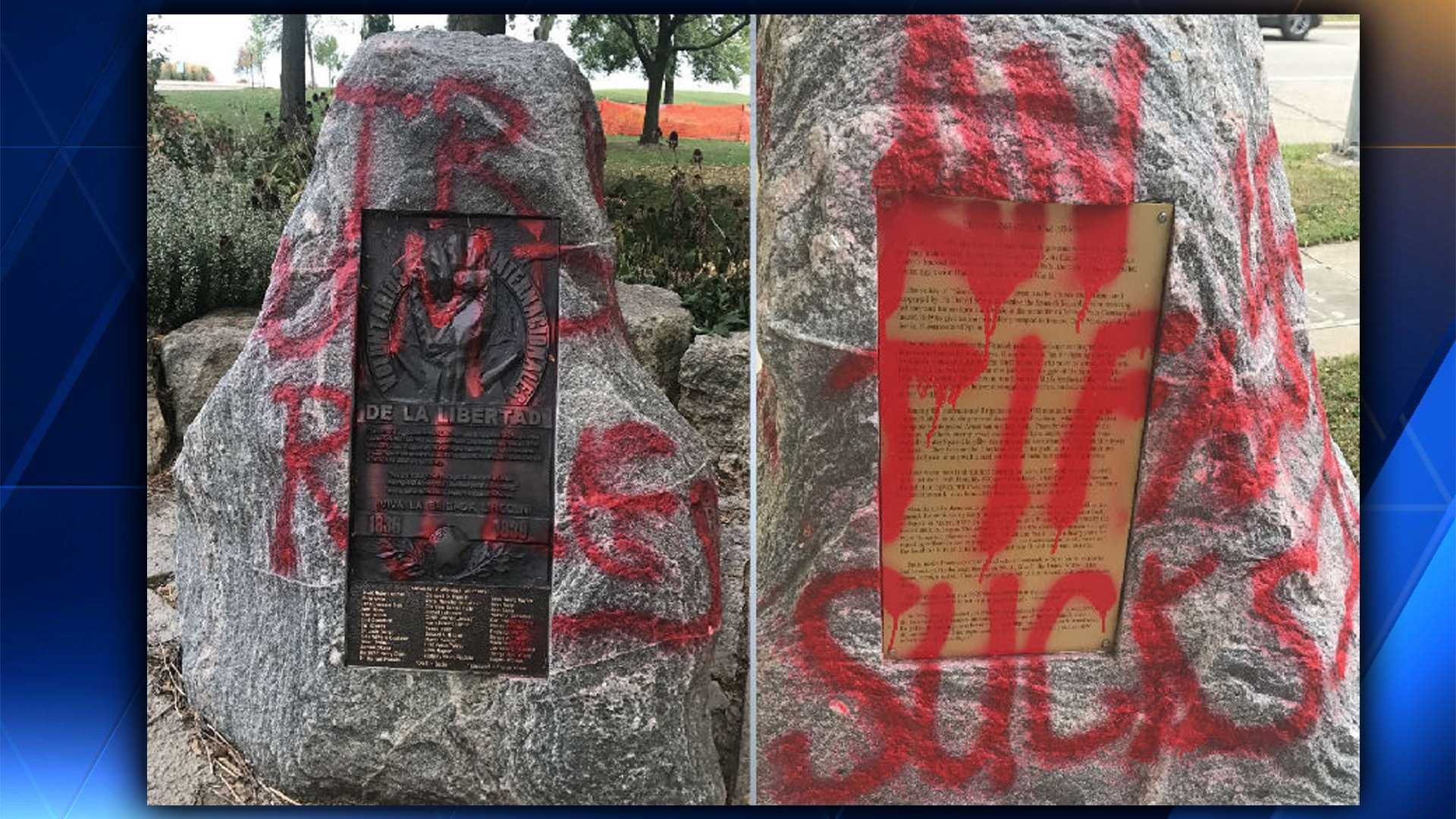 Police investigate graffiti at James Madison Park