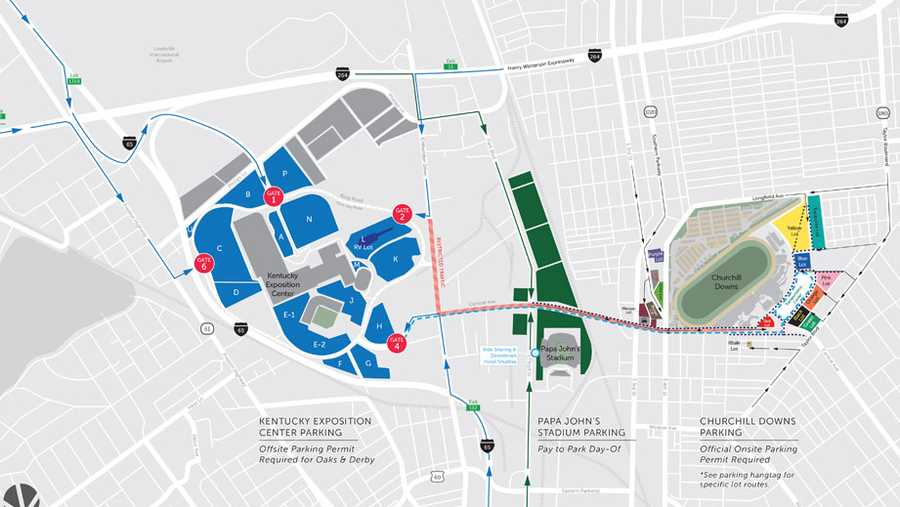 Churchill Downs makes parking, traffic changes for Derby Week