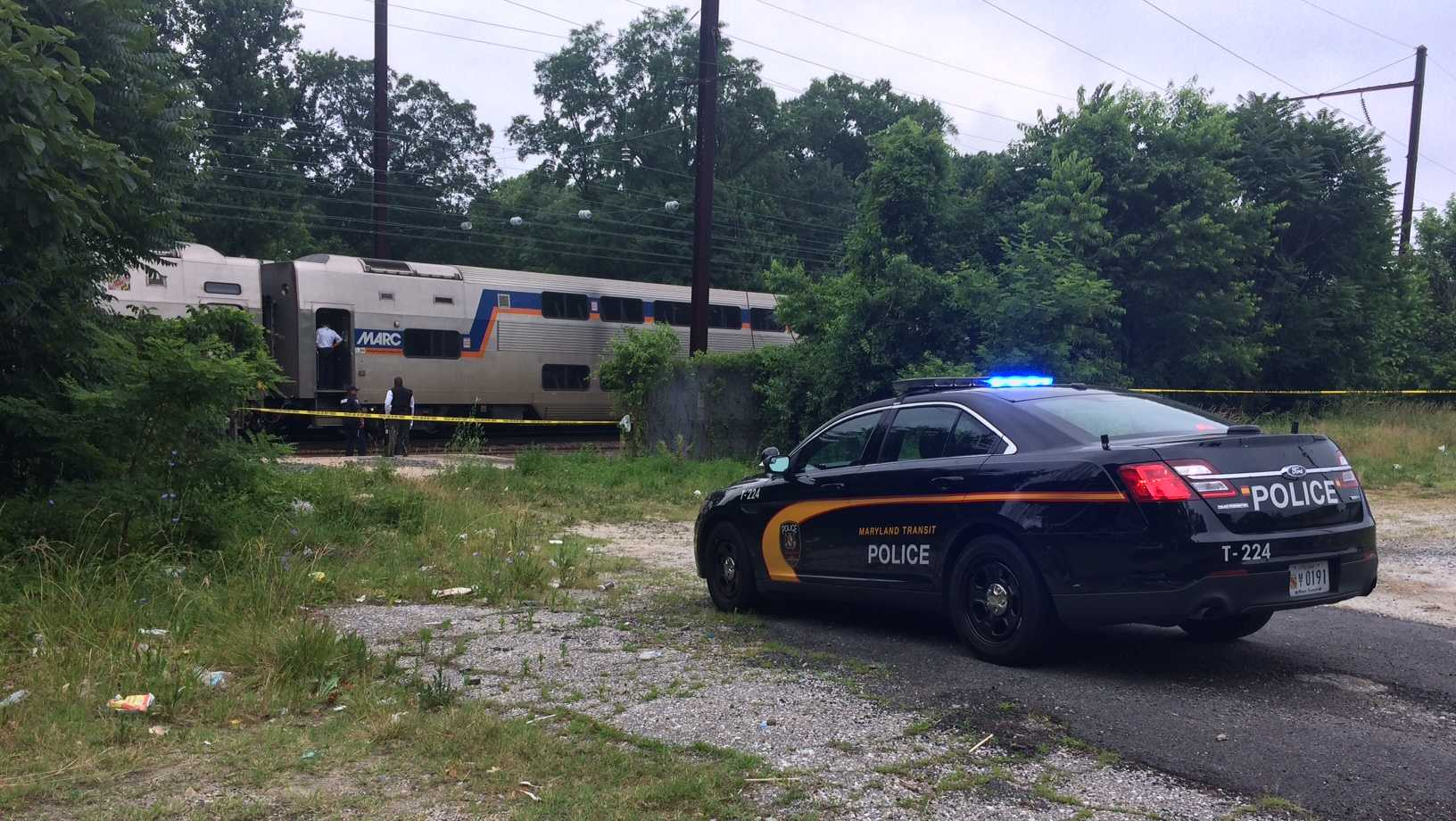 Service on the MARC Penn Line was suspended after a person was struck by a train Friday morning in Baltimore.