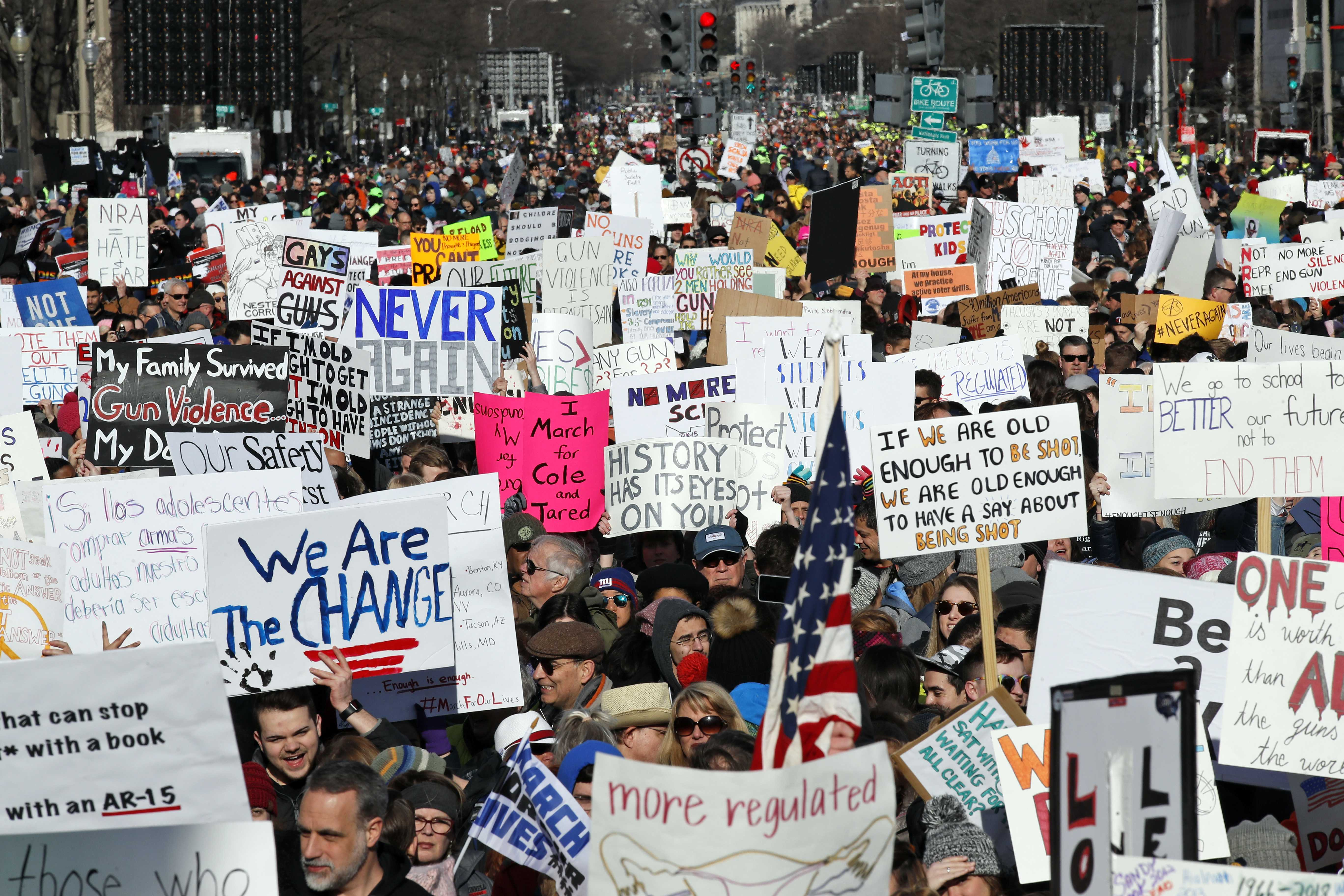 'March for Our Lives': Hundreds of thousands protest gun violence across the globe
