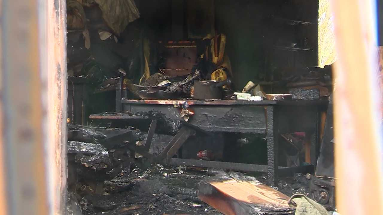 Damage left behind after fatal fire