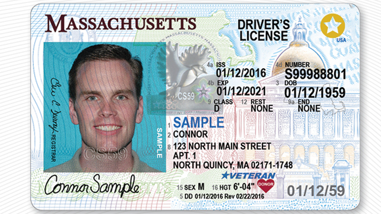 Real ID driver's license sample