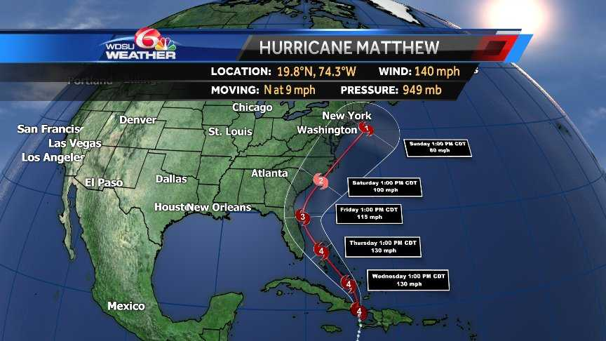 SC bracing for Hurricane Matthew