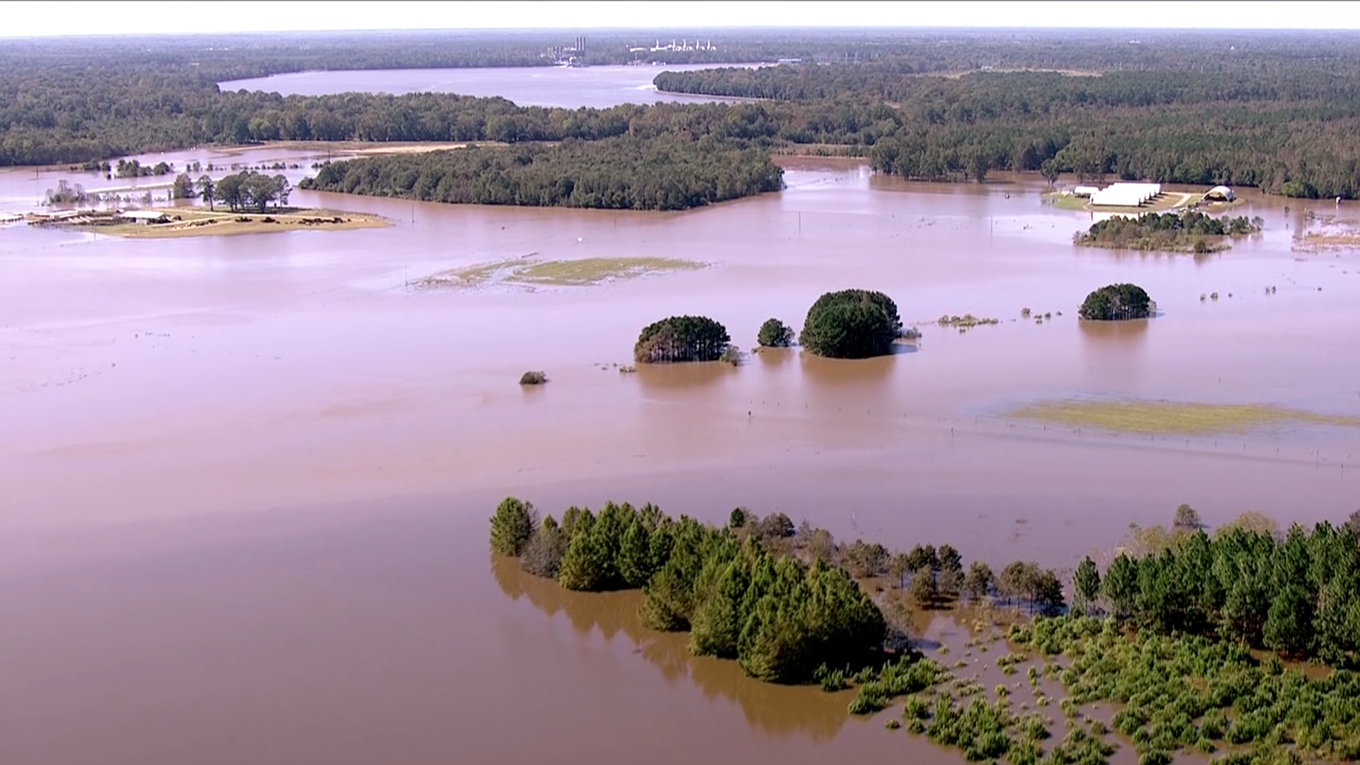The Neuse River crested at a record near Goldsboro after Hurricane Matthew dumped more than a foot of rain in North Carolina.