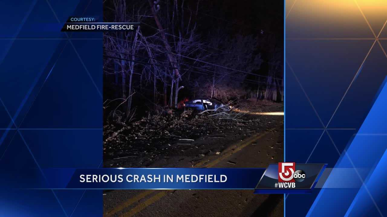 Serious crash in Medfield
