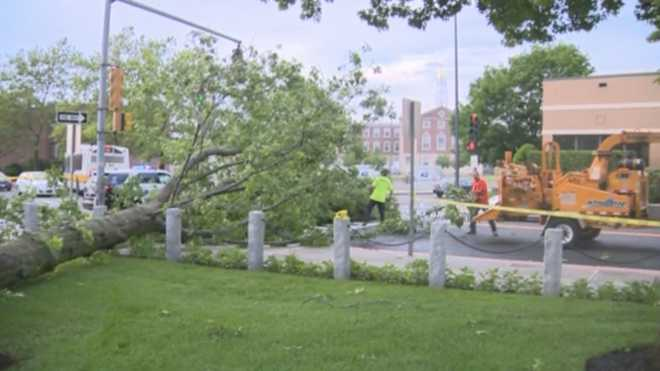 Storm Leaves Extensive Damage In Boston Area