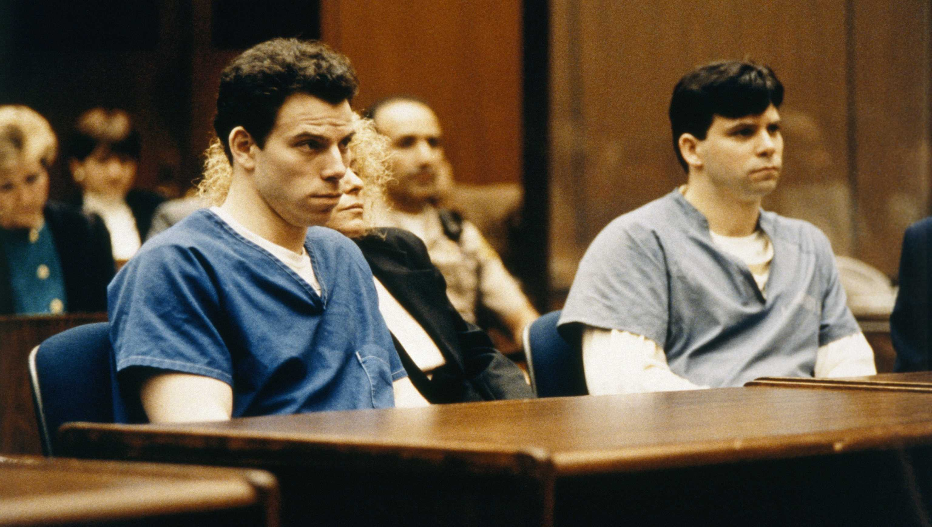 Lyle and Erik Menendez during their 1993 trial.