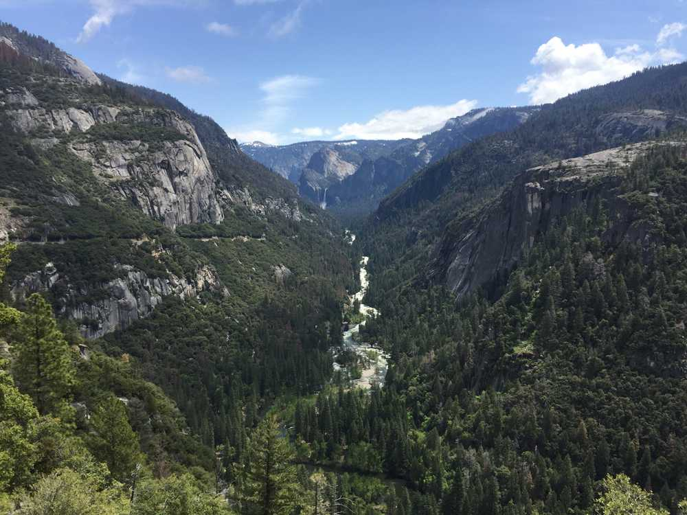 Merced River flows through the Yosemite Valley in Yosemite National Park on Monday, May 8, 2017.