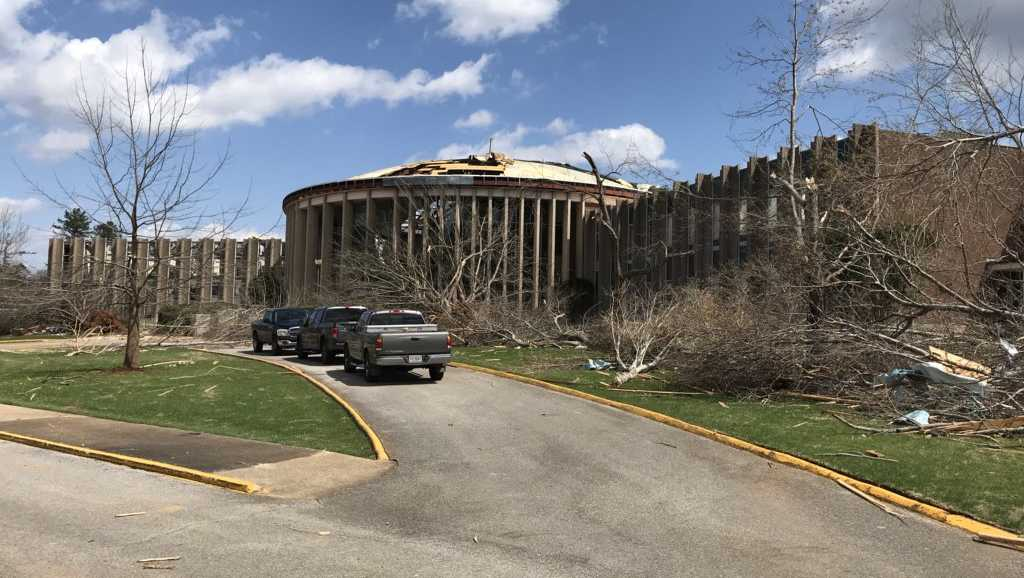 Jacksonville State tornado damage