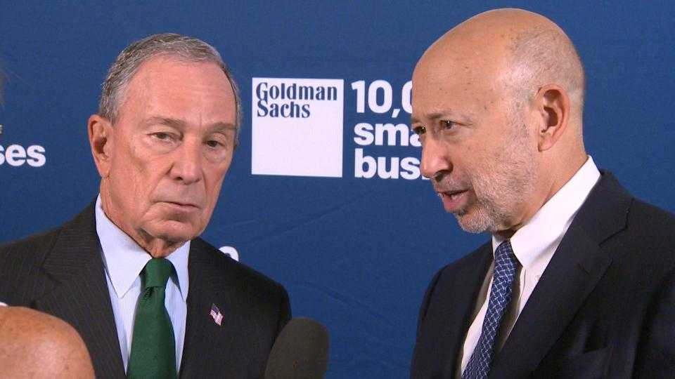 Michael Bloomberg, Lloyd Blankfein