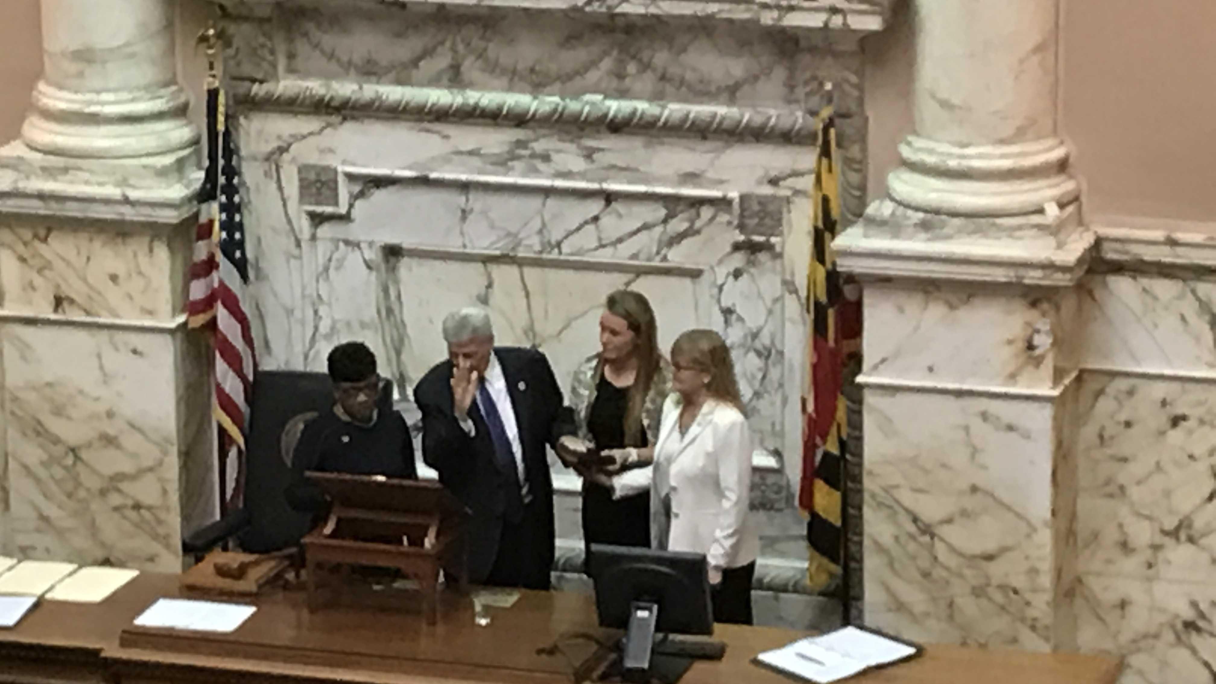 Michael Busch sworn in as Speaker