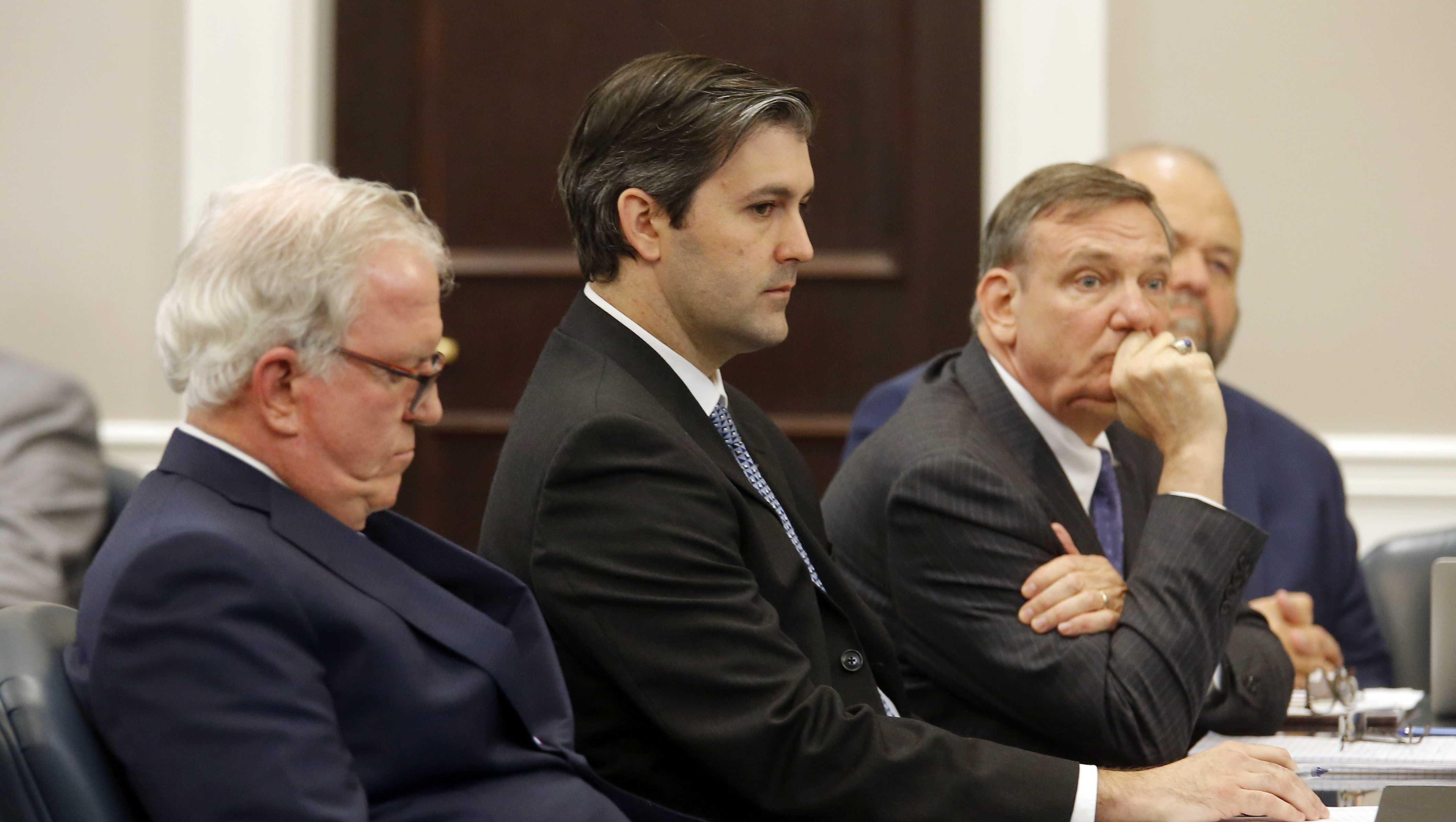 Michael Slager (center)