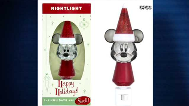 Mickey Mouse nightlight recall
