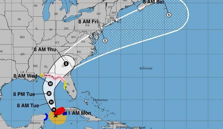 Hurricane Michael approaching Florida, may become dangerous Category 2 storm