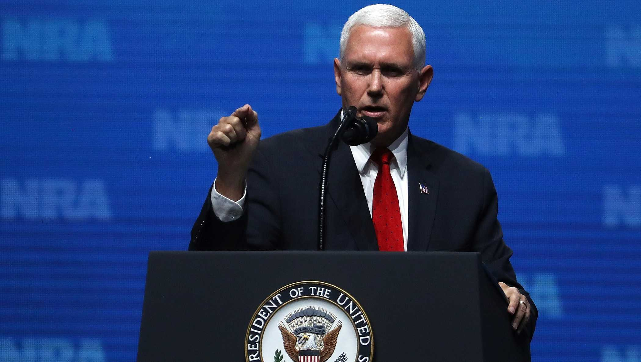 Vice President Mike Pence speaks at the NRA-ILA Leadership Forum on May 4, 2018 in Dallas, Texas.