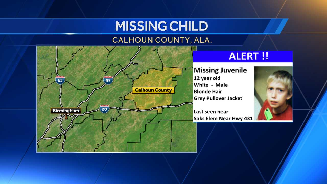 Missing 12-year-old in Calhoun County