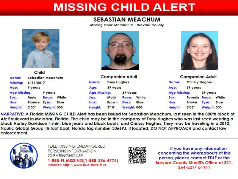FDLE issues Missing Child Alert for 9-year-old Brevard Co. boy