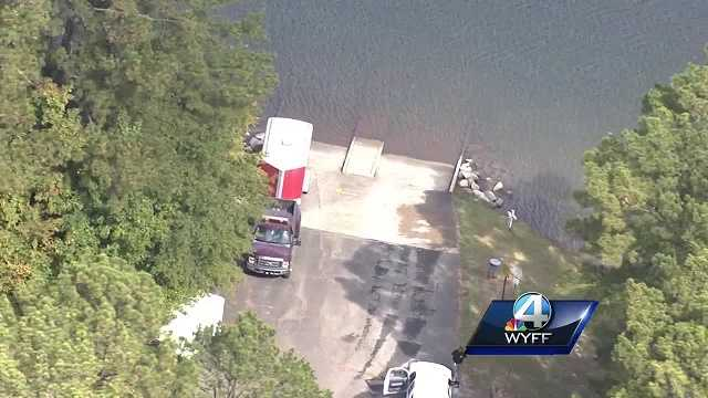 search for missing fisherman at Lake Russell