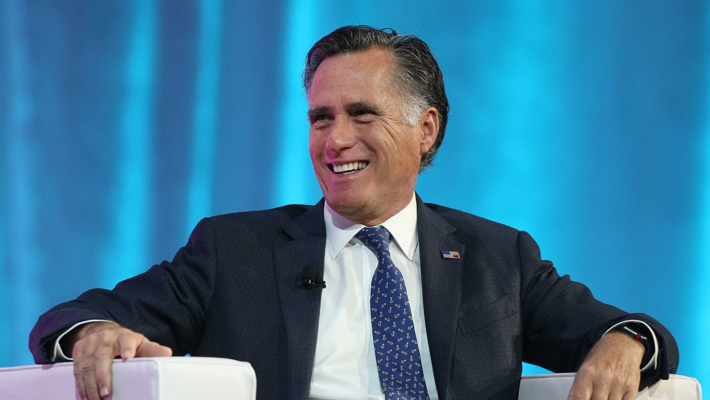 Mitt Romney at the Silicon Slopes Tech Conference on January 19, 2018 in Salt Lake City, Utah.