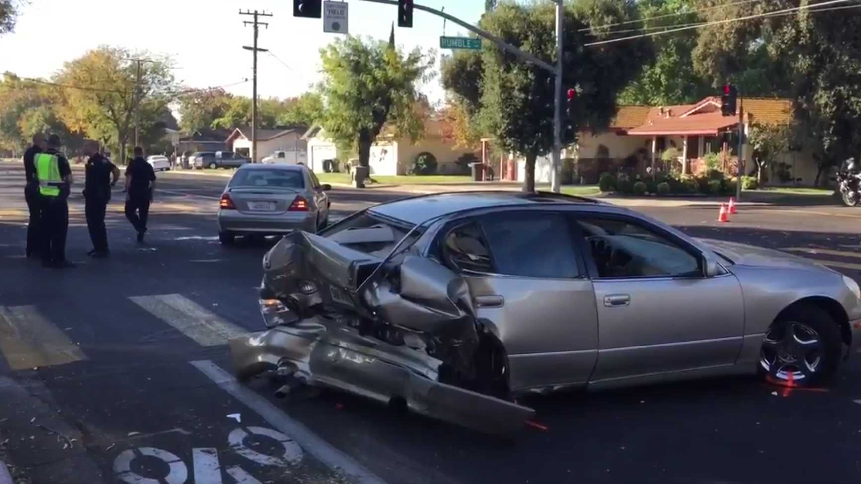 A man died in a crash on Wednesday, Oct. 26, 2016, at at Tully and Rumble roads – in front of Davis High School, Modesto Police said.
