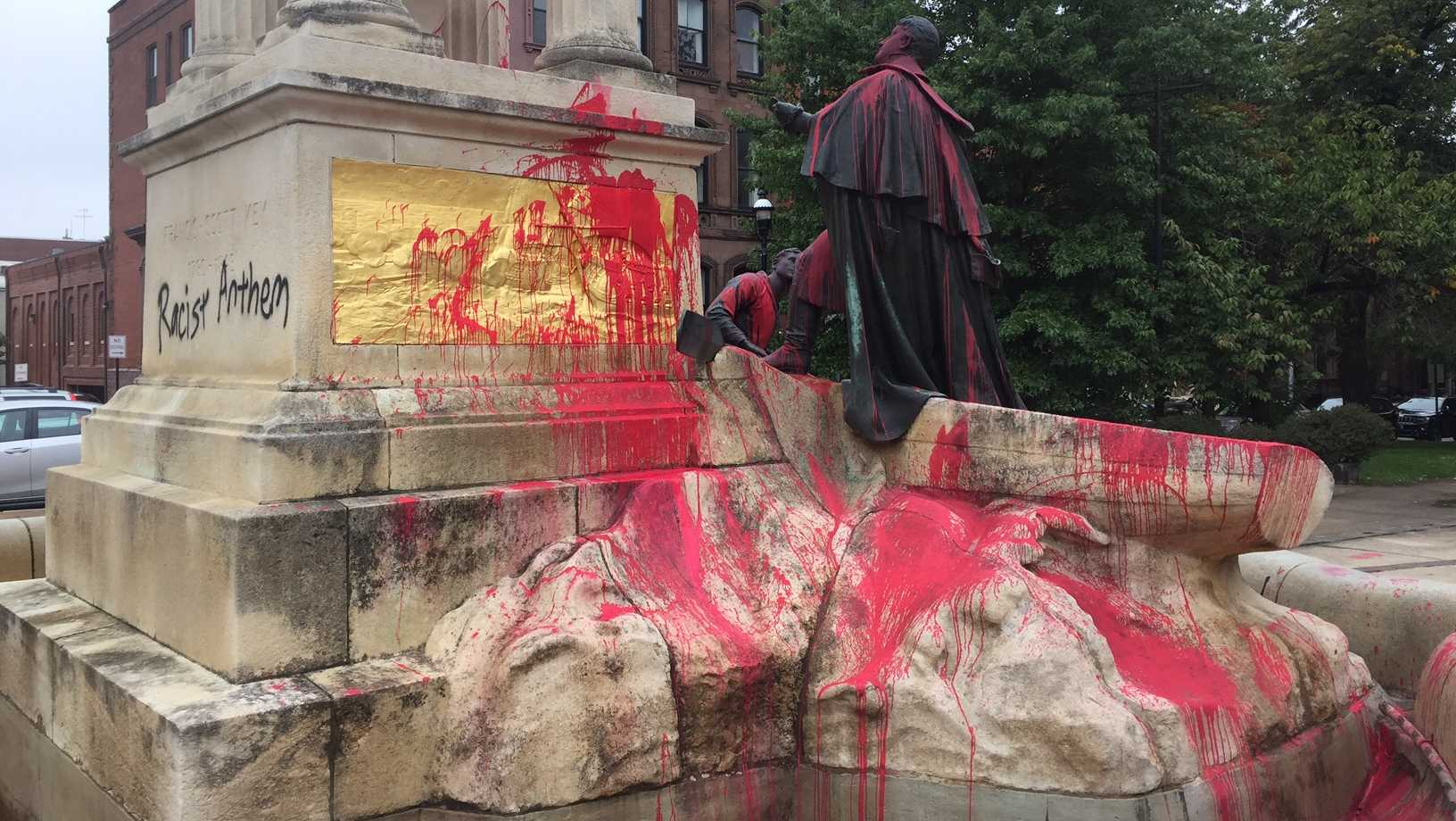 Francis Scott Key Monument vandalized