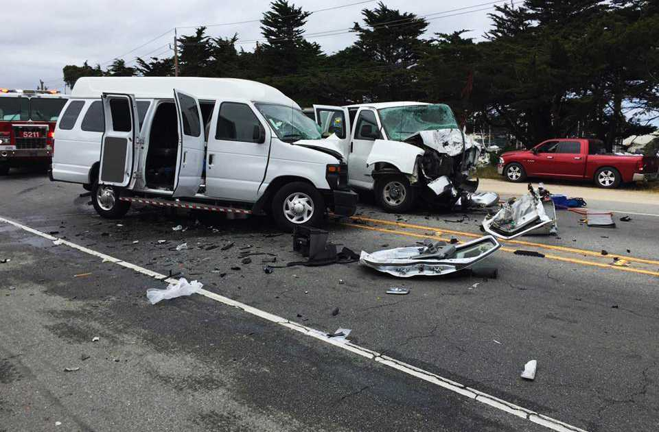 Fiery 101 crash kills two; passing driver saves five