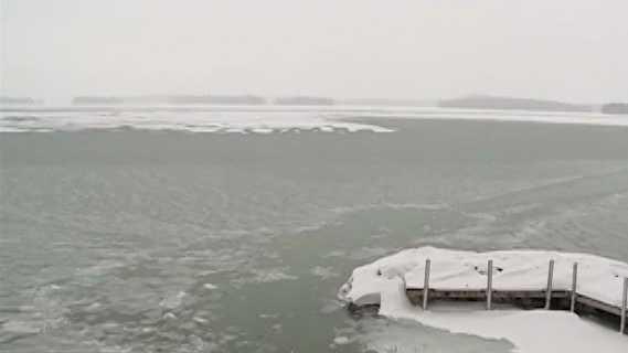 Lake Winnipesaukee ice