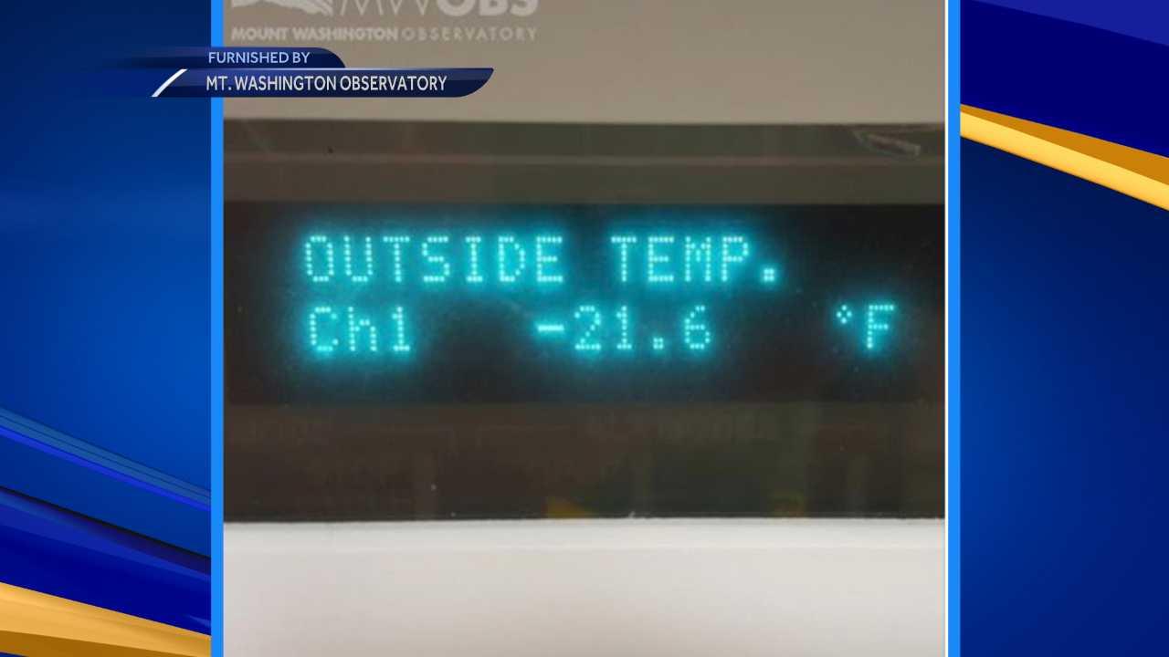 Cold on Mount Washington