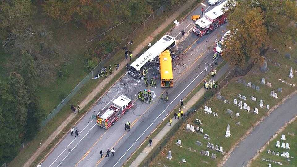 School bus, MTA bus crash
